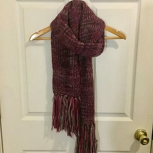 Wine/Eggplant/Burgundy Acrylic Crochet Scarf